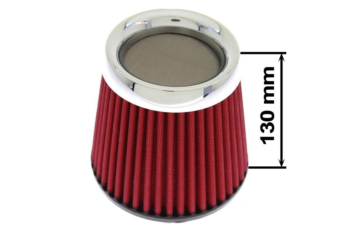 Filtr stożkowy SIMOTA JAU-X02105-05 60-77mm Red - GRUBYGARAGE - Sklep Tuningowy